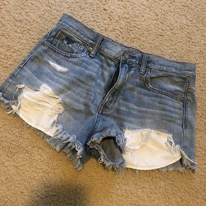 Vintage High Rise Festival American Eagle shorts